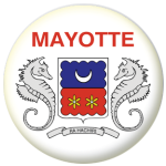 Mayotte Province Flag 58mm Mirror Keyring